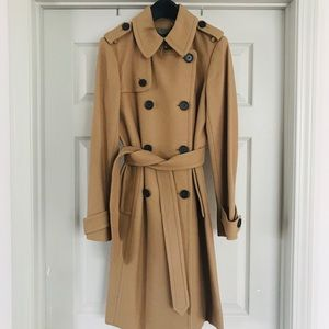 J.Crew Icon Trench Coat in Wool Cashmere Sz2